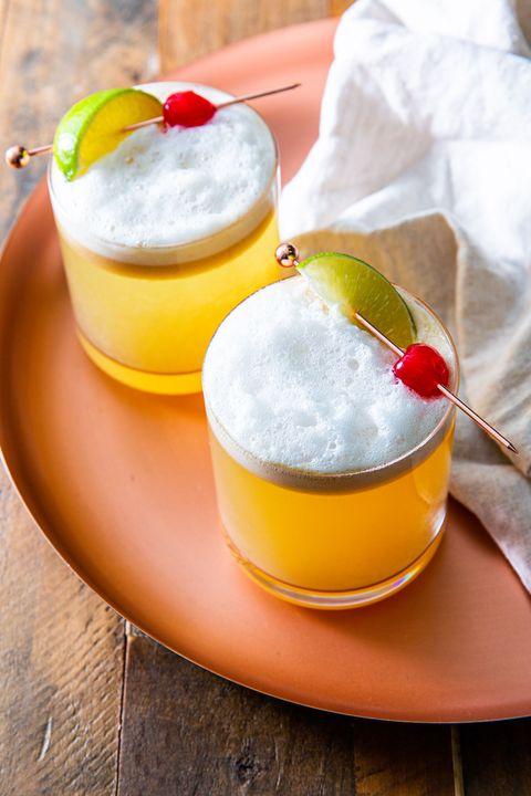 ginger lime whiskey sour