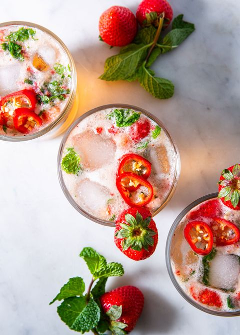 strawberry jalapeño mint julep