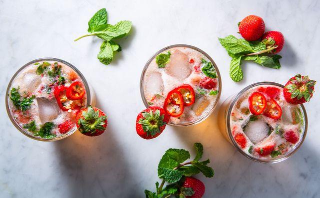 strawberry jalapeño mint julep