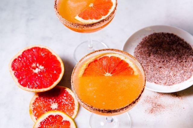 spicy grapefruit sidecar