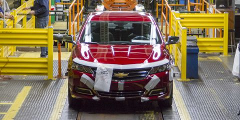 chevy impala rolls off the production line for the last time