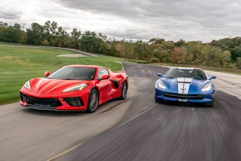 Chevy Corvette C8 vs. C7 Track Battle