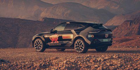 View Photos of the 2021 Aston Martin DBX Prototype