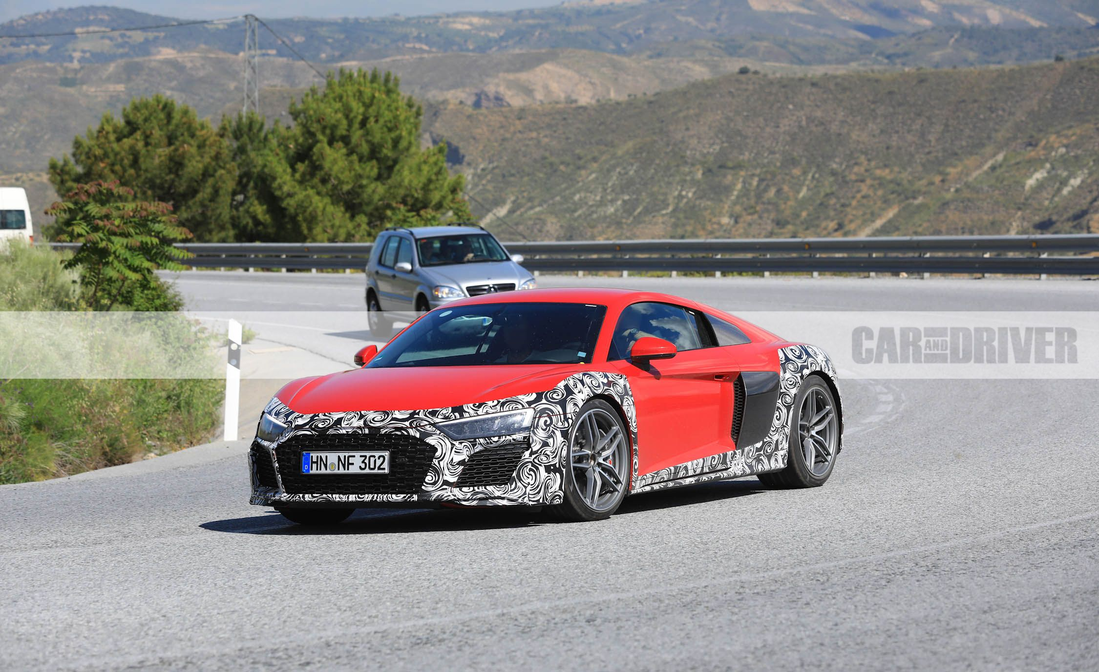 Audi R8 Spied With New Fascia Oval Exhaust News Car And Driver