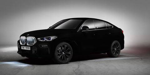 Bmw X6 Gets A Blackest Of Black Treatment With Paint That