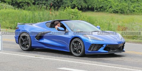 See the 2020 Chevy Corvette C8 Driving on the Road Undisguised