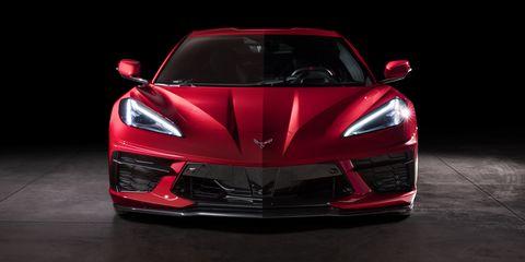 Land vehicle, Vehicle, Car, Sports car, Supercar, Automotive design, Red, Coupé, Performance car, Automotive lighting,