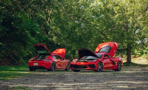 Land vehicle, Vehicle, Car, Automotive design, Supercar, Luxury vehicle, Sports car, Performance car, Grass, Tree,