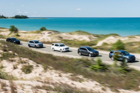 Three-Row SUVs Compared: Explorer, Telluride, Palisade, Enclave, and CX-9