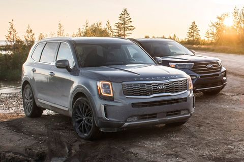 2020 Ford Explorer Vs 2020 Kia Telluride Can Korean