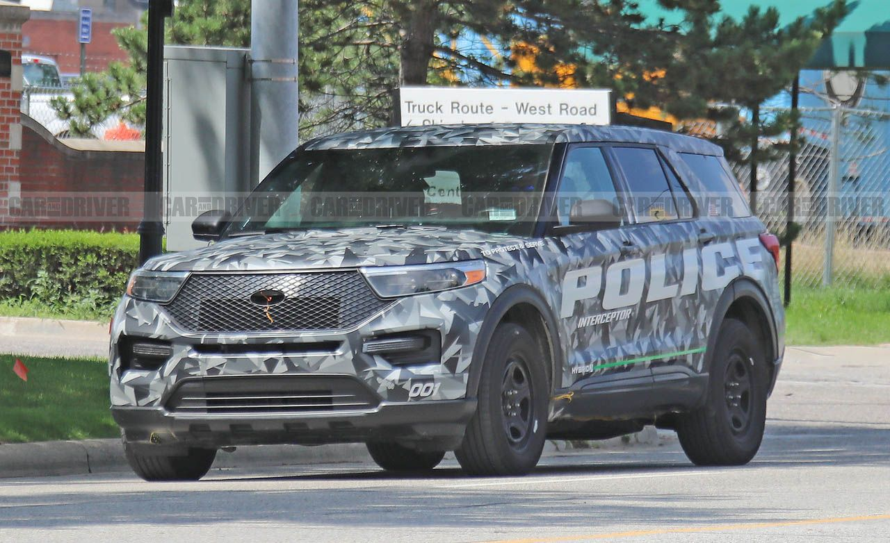 This is the 2020 ford explorer in cop car form at least news car and driver