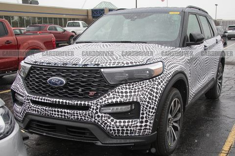 New Ford Explorer >> 2020 Ford Explorer St Spy Photos New Sporty Suv