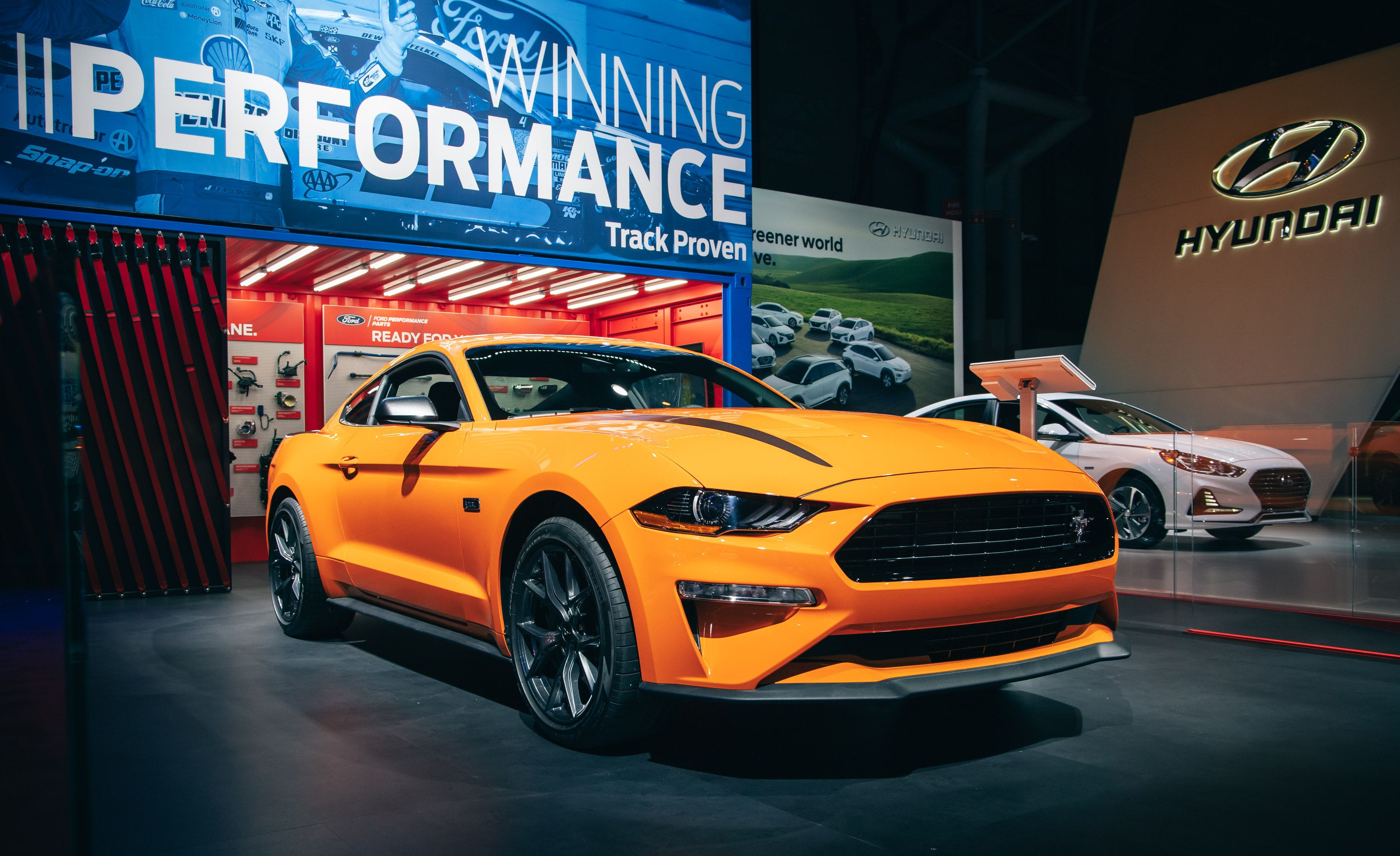 The 2020 ford mustang ecoboost base model gets a better performance package