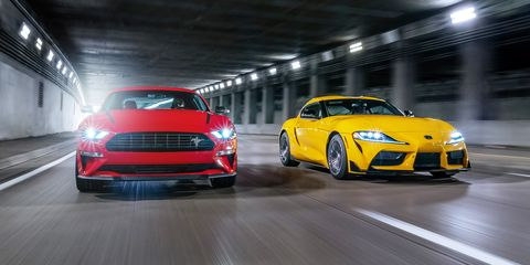 2020 ford mustang 23l high performance and 2021 toyota supra 20