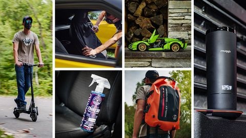 2020 car and driver holiday gift guide photo collage