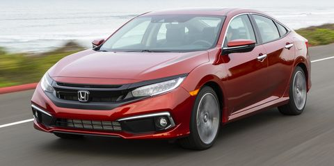 2020 honda civic sedan touring front