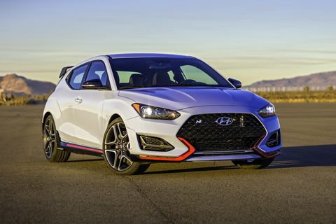 2020 hyundai veloster n front