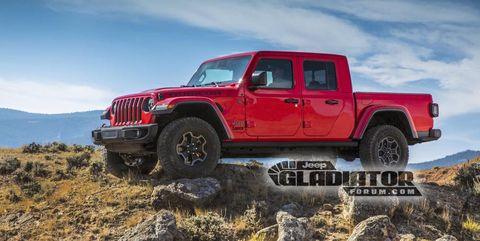 2020 Jeep Gladiator leaked photo