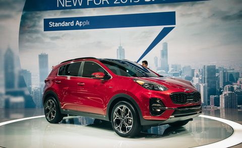 Land vehicle, Vehicle, Car, Motor vehicle, Automotive design, Auto show, City car, Sport utility vehicle, Kia sportage, Hatchback,