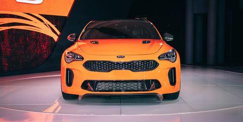Land vehicle, Vehicle, Car, Motor vehicle, Automotive design, Auto show, Vehicle door, Full-size car, Performance car, Kia motors,