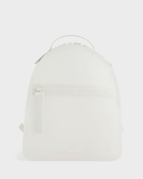 果凍拉鍊後背包 白色