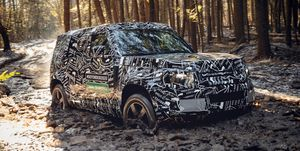 2020 Land Rover Defender official spy photo