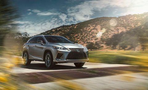 Land vehicle, Vehicle, Car, Automotive design, Mid-size car, Lexus, Sky, Lexus rx hybrid, Rolling, Sedan,