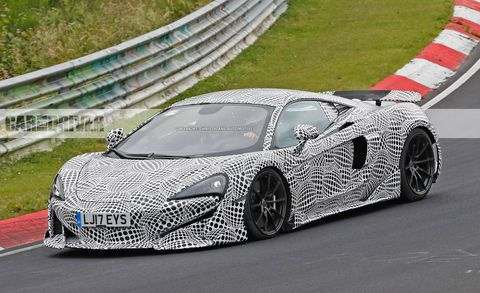 2019 Mclaren 600lt Spied On The Ring News Car And Driver