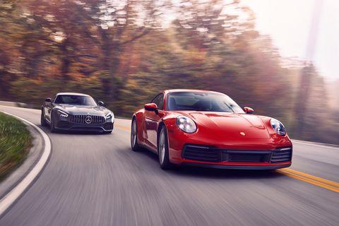2020 porsche 911 carrera vs 2020 mercedes amg gt coupe