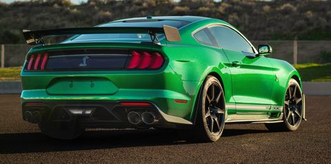 2020 Ford Mustang Shelby GT500, VIN 001, Rolls Off Line in Candy Apple Green