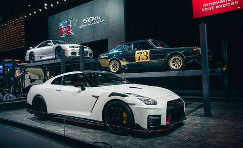 Land vehicle, Vehicle, Car, Auto show, Performance car, Automotive design, Sports car, Supercar, Nissan gt-r, Wheel,