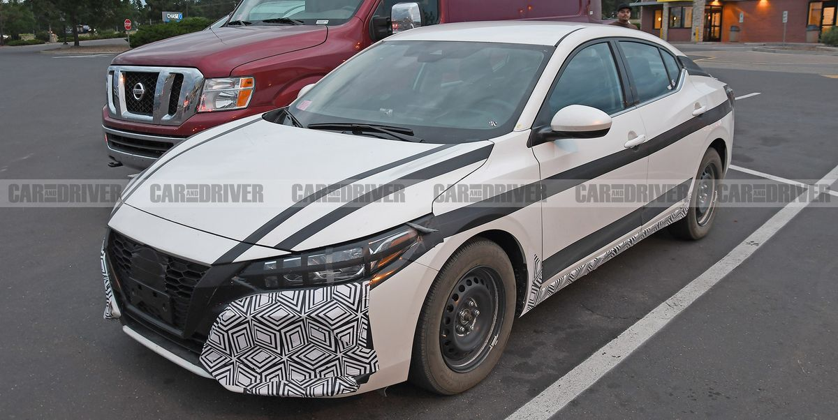 2020 Nissan Sentra Spied in Base Form with a Manual ...