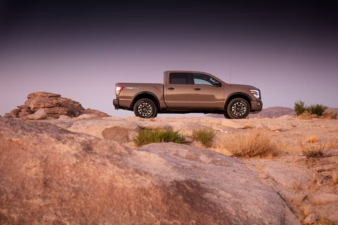the nissan titan full size pickup undergoes an extensive redesign for the 2020 model year the new titan features substantial powertrain updates and unique styling for different trim levels titan now also offers standard nissan safety shield 360 across all grade levels