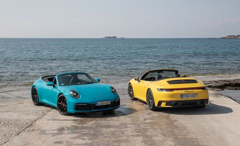 The 2020 Porsche 911 Carrera S Cabriolet Drowns Its Driver in Sun, Speed, and a Curiously Tall Body