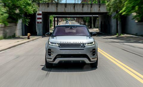 Land vehicle, Vehicle, Car, Sport utility vehicle, Automotive design, Range rover, Range rover evoque, Compact sport utility vehicle, Land rover, Grille,