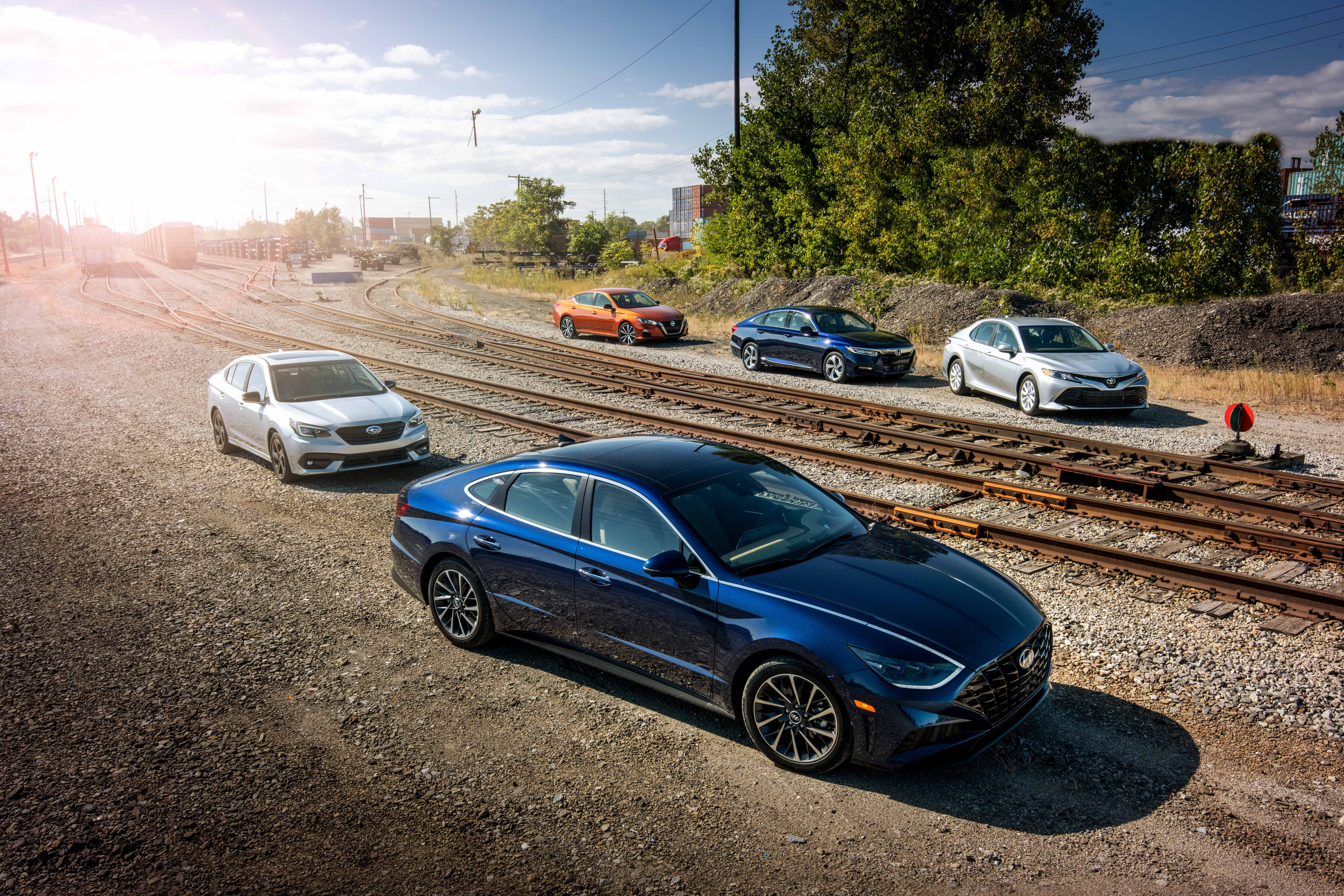 Mid Size Sedans Compared Accord Camry Altima Sonata Legacy