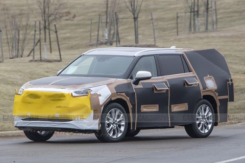 2020 Toyota Highlander Three Row Suv Spied Redesigned Crossover