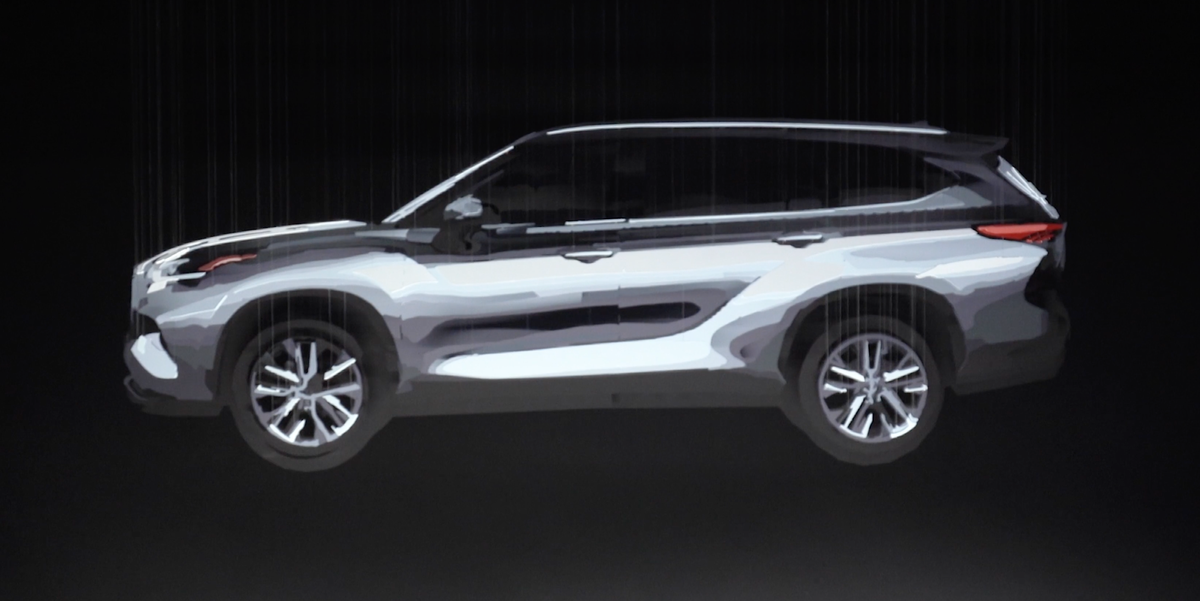 toyota highlander redesigned  row suv