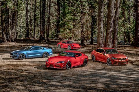 2020 Toyota Supra vs. BMW M2 vs. Ford Mustang Shelby GT350 vs. Porsche 718 Cayman