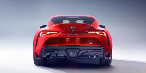 Land vehicle, Vehicle, Car, Automotive design, Sports car, Concept car, Red, Supercar, Coupé, Automotive lighting,