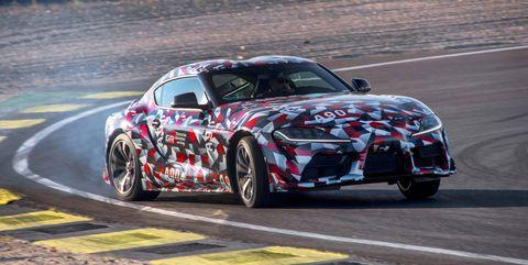 2020 Toyota Supra drifting