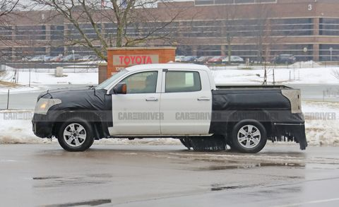 The 2021 Toyota Tundra Pickup Is Spied Testing