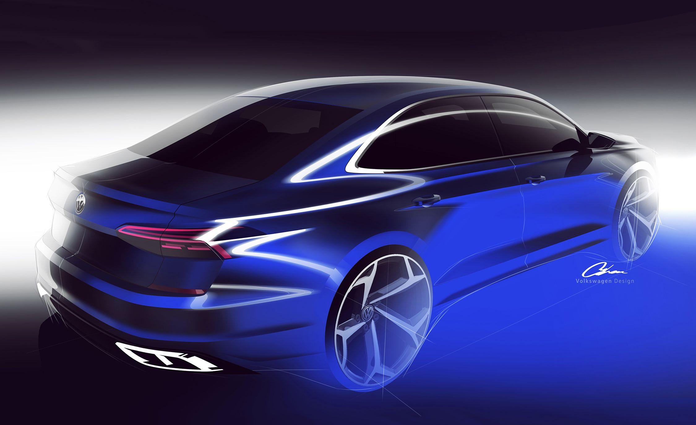 2020 Volkswagen Passat sketch