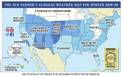 The Old Farmer's Almanac Predicts 'No Fewer' Than 7 Big Snowstorms This Winter