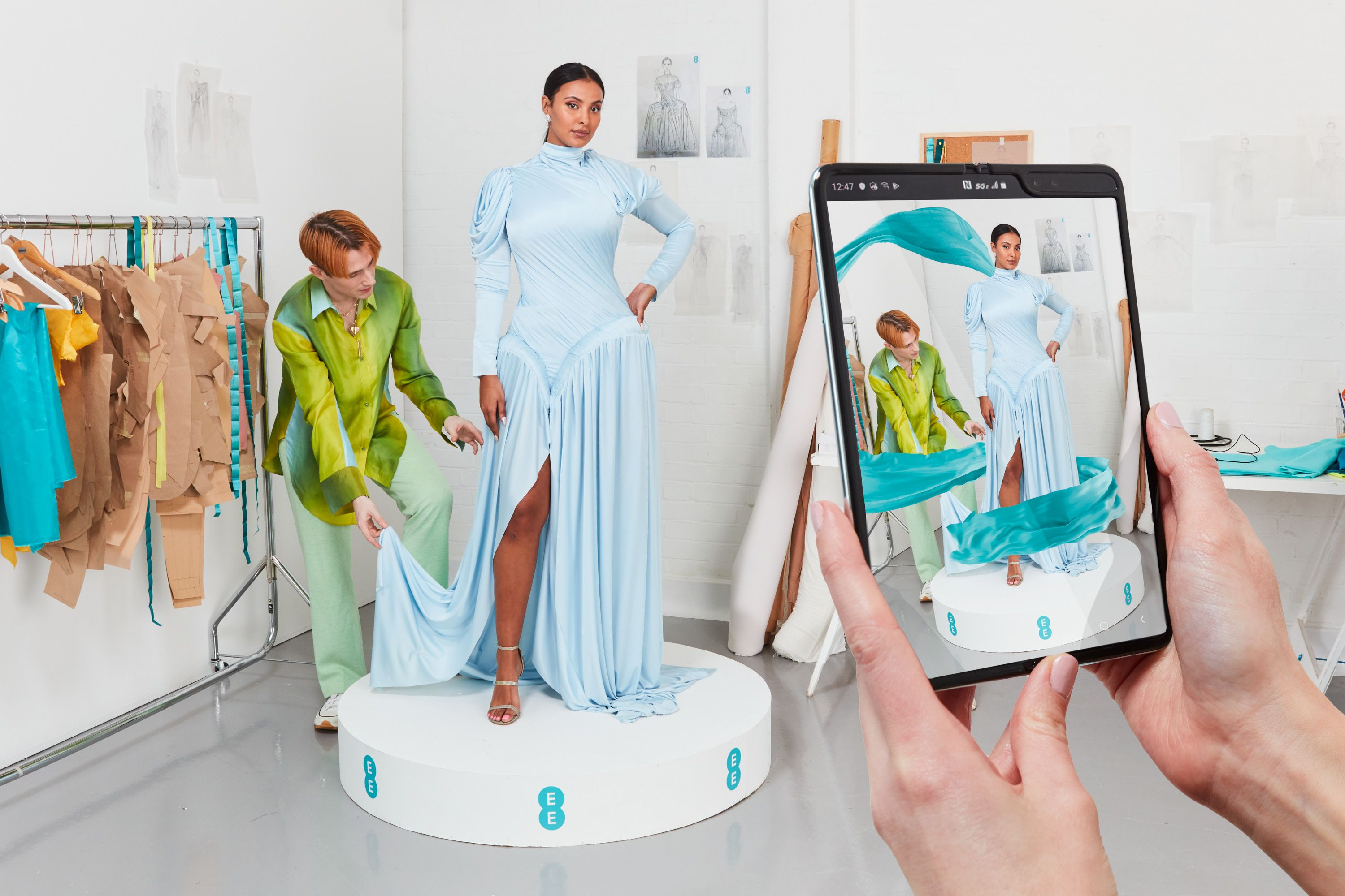 Richard Malone has designed an Augmented Reality dress for the Baftas red carpet