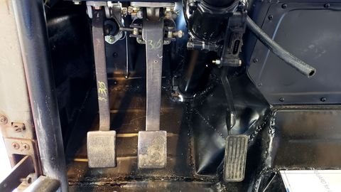 1941 Plymouth race car pedals