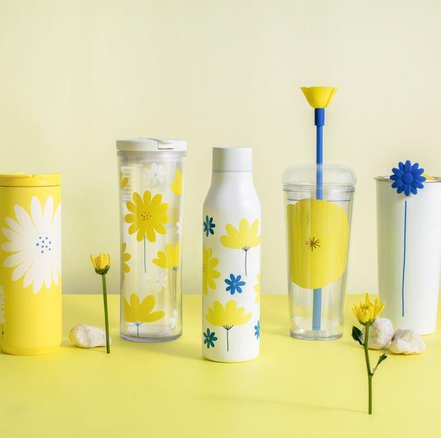 星巴克最可愛「小雛菊系列」杯款上市!starbucks黃色雛菊不鏽鋼杯、罌粟花吸管冷水杯等太浪漫