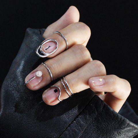 blackpink jennie同款金色戒指