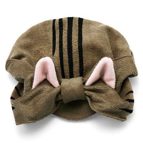 日本felissimo推出「貓咪耳朵乾髮帽」太實用!滿足你不想吹頭髮的懶惰,和想變成一隻貓的心願