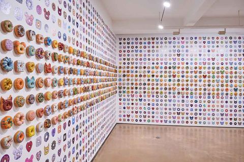 wall of donuts